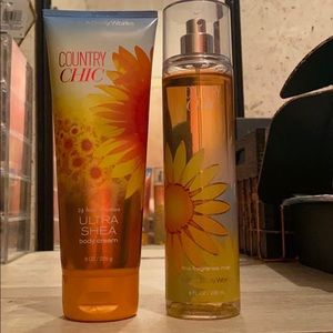 Country Chic body spray and lotion.